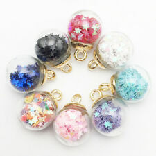 10 Star Lucky Glass Wishing Bottle Pendant Charms DIY Necklace Women Jewelry