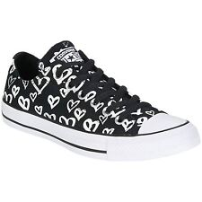 Converse Chuck Taylor All Star Ox Black Silver Mens Canvas Low-top Trainers