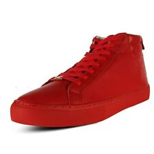 True Religion Men's HEX V1 High Top Leather Sneaker shoes Red