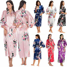 Women Silk Satin Kimono Robe Dressing Gown Wedding Bridesmaid Sleepwear Bathrobe