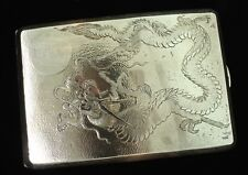 Vintage CHINESE Sterling Silver Dragon Monogram Cigarette Vesta
