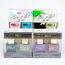 NCLA Nail Polish Lacquer Duo Mani Set NIB Spray-effect Glitter HTF Discontinued