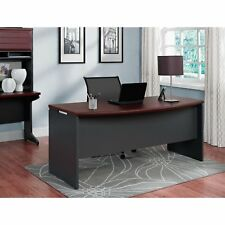 Two Tone Large Executive Shell Desk Home Office Living Room Furniture