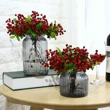 12pcs Wedding Decoration Artificial Flowers Berry Simulation Flowers Latex Real