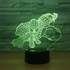 Spiderman 3D Optical Night Light 7 Color Change Table Desk Decor Sleeping Lamp