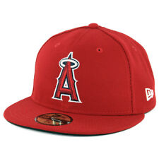 New Era 59Fifty Los Angeles Anaheim Angels GAME Fitted Hat (Red) MLB Cap