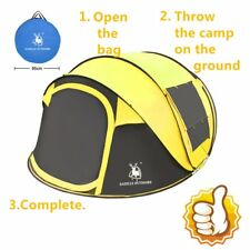 NEW 3-4 Person Camping Pop Up Tent Waterproof Automatic Outdoor Hiking Tent GA