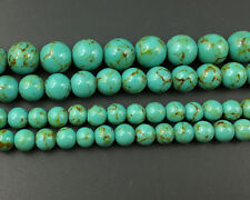 Wholesale Howlite Turquoise Gemstone Beads Green Round Loose Beads 4,6,8,10,12mm