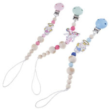 Kids Baby Infant Wood Dummy Pacifier Clip Chain Holder Soother Nipple Strap