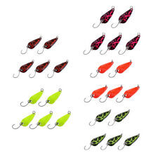 5Pcs Metal Spoon Fishing Lures Spinner Baits Colorful Sequins Crankbait Set