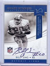 Billy Sims 2017 Contenders Award Winners Auto Autograph Lions #AWA-BS A