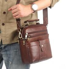 Mens Bag Cowhide Genuine Leather Messenger Shoulder Cross Casual Business Tote