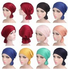 Women Muslim Ruffle Hijab Headscarf Cancer Chemo Turban Head Cap Hat Headwarp