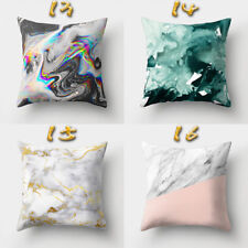 New Geometric Striped Marble Texture Polyester Pillow Case Sofa Cover Home Decor