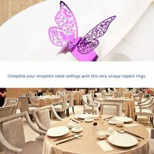 50pcs Butterfly Style Laser Cut Paper Napkin Ring for Wedding Table Decoration U