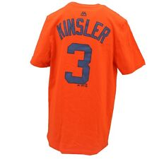 Detroit Tigers Official MLB Majestic Kids Youth Size Ian Kinsler T-Shirt New
