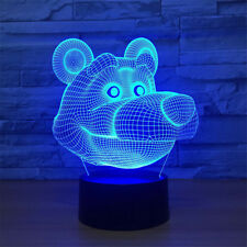 Bear 3D Night Light 7 Color Change LED Table Desk Decor Sleeping Lamp for Kid