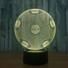 Football 3D illusion Visual Night Light 7 Colors Change LED Desk Lamp Bedroom