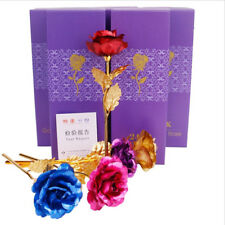 Gold Plated Rose 24K Dipped Flower Valentine's Day Love Gift For Her Decor