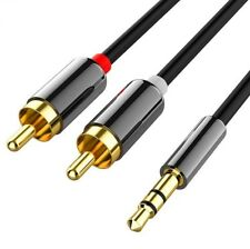 3.5mm Jack Plug Male To 2 RCA Stereo Audio Cable Metal Connector 1/2/3/5 Meter