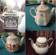 SADLER ENGLAND TEAPOTS HAMLET - FLORAL - GOLDEN GARLANDS - PICK ONE