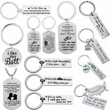 Keychain Couple Lover Gift Husband Wife Keyring Boyfriend Girlfriend Valentines