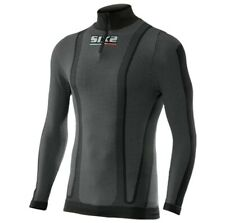 SixS TS13 Carbon Mens Long Sleeve Zip Under Jersey Black Carbon