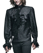 Shirt crop aristocrat black, brocade, lace, gothic rom Devil Fashio
