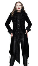 Women jacket velvet black with embroidery, falsely 2pcs, gothic ele Devil Fashio