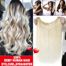 Crown Remy Human Hair Extensions With Wire Line Headband Straight Sweet Fish SY3