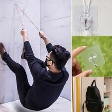 4PCS Super Suction Cup Hook Strong Transparent Suction Cup Wall Hanger Kitchen