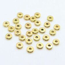80pcs Tibetan Gold/Silver Charm Round Loose Spacer Beads DIY Jewelry Findings