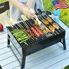 New BBQ Barbecue Grill Fold Portable Charcoal Camping Garden Outdoor Party Black