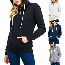 Fashion Womens Pullover Soft Fleece Zip-Up Pullover Hooded Casual Sweatshirt 28
