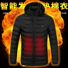 Heated Jackets Outdoor Vest Coat USB Electric Battery Long Sleeves