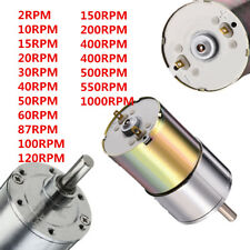 DC 12V 2-1000RPM Powerful High Torque Electric Gear Box Motor Speed Reduction ^
