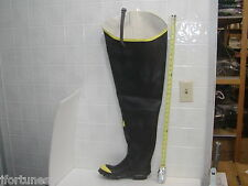 "T112 Ranger 36"" Black rubber safety steel toe hip boot"