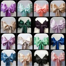 100 SATIN SASHES CHAIR BOW SASH WIDER 22cm SASHES FOR A FULLER BOW UK SELLER