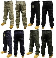 MENS COMBAT CARGO TROUSERS/PANTS BLACK BEIGE NAVY OLIVE