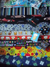 Quality Mens Wrapping paper and tag Giftwrap