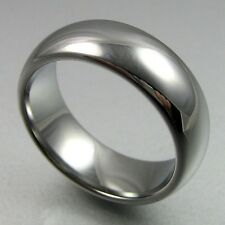 TUNGSTEN CARBIDE DOME MENS RING WEDDING BAND SIZE 7-13