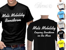 NEW BENIDORM FUNNY T-SHIRT MEL'S MOBILITY SIZE SMALL