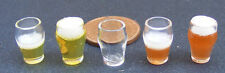 1:12 Scale Dolls House Miniature Glass GLA19 With Beer Or Lager Drink Accessory
