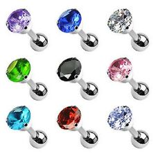 5mm CZ 6mm Tragus Bar Lip Labret Monroe CHOOSE COLOUR