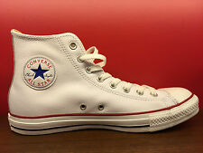 New Converse All Star White Leather Chuck Taylor HI