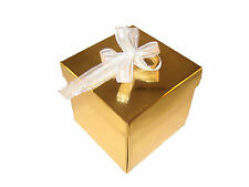 Wedding Party Favours Pks 50 Single Cupcake box and Lid Plain or Merry Christmas