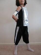 SPACE ALIEN, HIP HOP OUTFIT, ROBOT, BLACK AND SILVER COSTUME - NEW !!!
