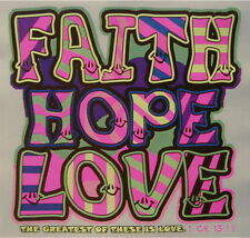 CHRISTIAN OUTFITTERS JESUS FAITH HOPE LOVE GREATEST OF THESE IS LOVE SHIRT