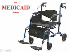NEW MEDLINE Excel Translator 2 IN 1 Transport Chair Combo Wheelchair Rollator