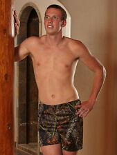 Men's Boxer Shorts: Mossy Oak Camo or Blaze Orange